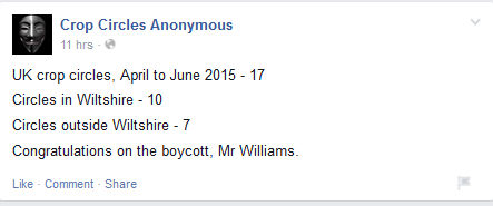 A screen capture that tells you all you need to know about a past 'boycott'.
