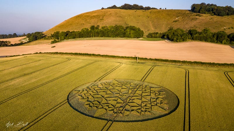 2018 Circles: Martinsell Hill Hoax, nr Wotton Rivers, Wiltshire